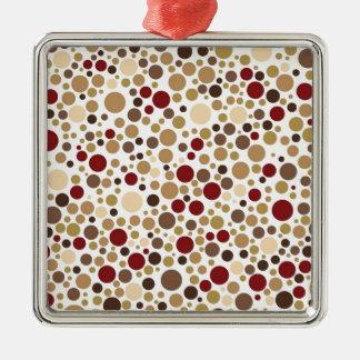 Colorblind barock (bruntet, solbrännan, beigen julgransprydnad metall