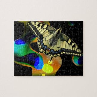 Colorfull fjärilspussel pussel