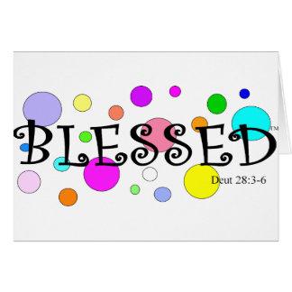 colorfully välsignat hälsningskort