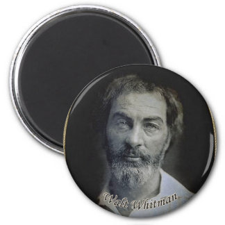 Colorized Walt Whitman porträtt Magnet