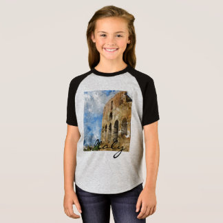 Colosseum i Rome italienvattenfärg T-shirt