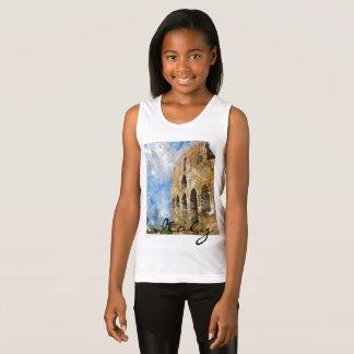 Colosseum i Rome italienvattenfärg T Shirt