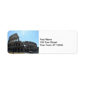 Colosseum- Rome Returadress Etikett