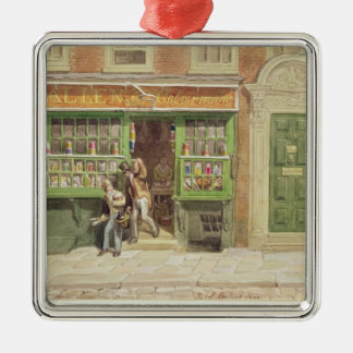 Colourman'sen shoppar, Sts Martin Lane, 1829 Julgransprydnad Metall