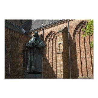 Comenius staty i Naarden Fototryck