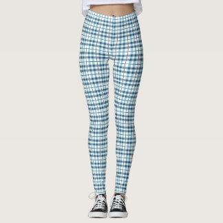 Comfy Pajamaplädmönster Leggings
