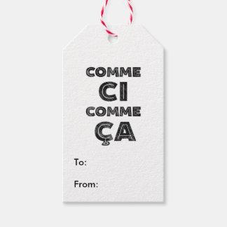 Comme Ci, Comme Ca - rolig fransk Presentetikett