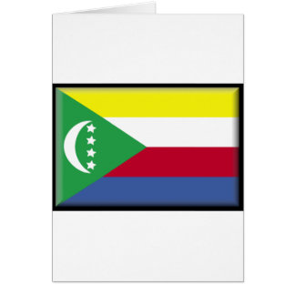Comoros flagga hälsningskort