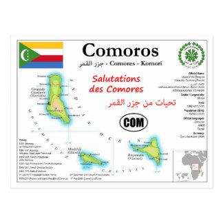 Comoros kartavykort vykort
