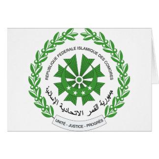 Comoros vapensköld hälsningskort