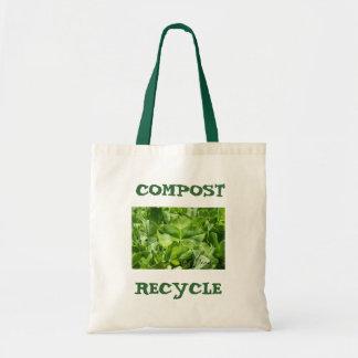 compost- & återvinnaecovänskapsmatchen hänger lös tygkasse