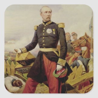 Comte Maurice de MacMahon, 1860 Fyrkantigt Klistermärke