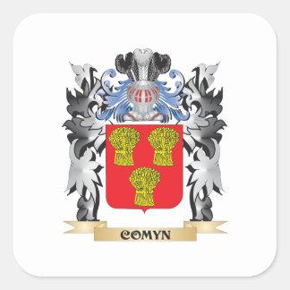 Comyn vapensköld - familjvapensköld fyrkantigt klistermärke