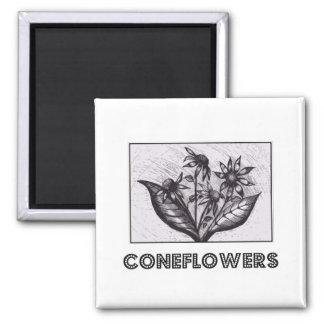 Coneflowers Kylskåpmagneter