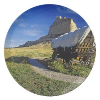 Conestoga vagn på den Scottsbluff medborgare Tallrik