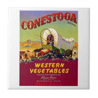 Conestoga westerna grönsaker kakelplatta