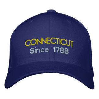 Connecticut efter lock 1788 broderad keps
