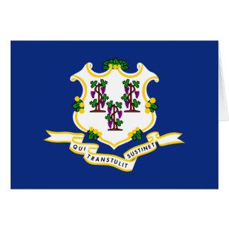 Connecticut flagga hälsningskort