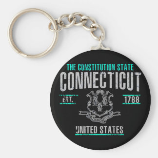 Connecticut Rund Nyckelring