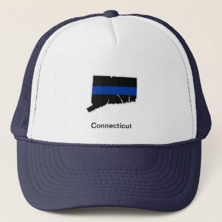 Connecticut tunn blålinjentruckerkeps keps