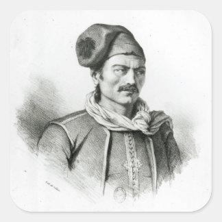 Constantine Kanaris Fyrkantigt Klistermärke