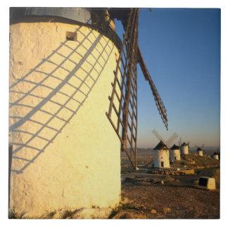 Consuegra La Mancha, Spanien, windmills och Kakelplatta