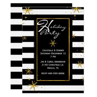 Contemporaryn görar randig julfestinbjudan 12,7 x 17,8 cm inbjudningskort