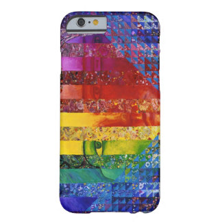 Conundrum jag - Abstrakt regnbågekvinnagudinna Barely There iPhone 6 Skal