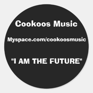 Cookoos musik runt klistermärke
