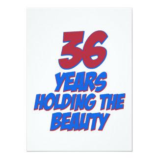 coola 36 år gammala födelsedagdesigner kort för inbjudningar