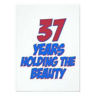 coola 37 år gammala födelsedagdesigner anpassningsbara inbjudningskort