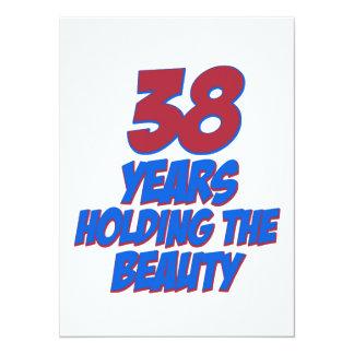 coola 38 år gammala födelsedagdesigner personliga inbjudningskort