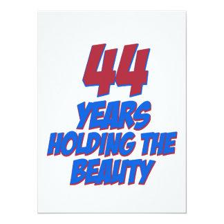 coola 44 år gammala födelsedagdesigner anpassningsbara inbjudningskort