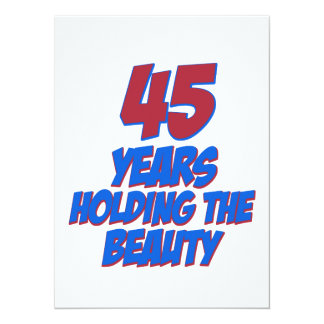 coola 45 år gammala födelsedagdesigner individuella inbjudningskort