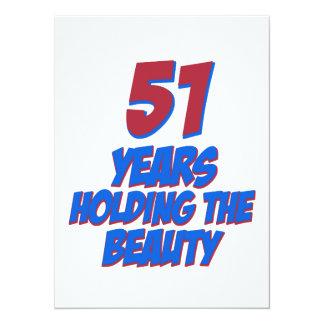 coola 51 år gammala födelsedagdesigner personliga tillkännagivanden
