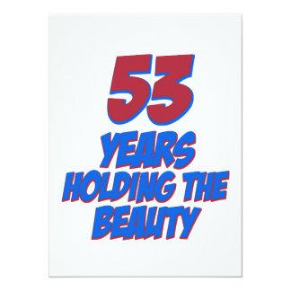 coola 53 år gammala födelsedagdesigner inbjudan