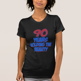 coola 90 år gammala födelsedagdesigner t-shirts