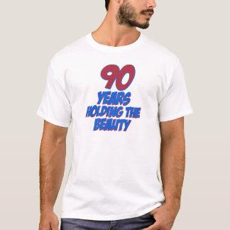 coola 90 år gammala födelsedagdesigner t shirts