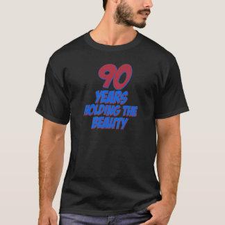 coola 90 år gammala födelsedagdesigner tee shirt