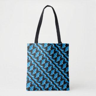 Coola avspeglat geometriskt & abstrakt mönster tygkasse