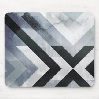 Coola bedrövad grå dekorativ design musmatta