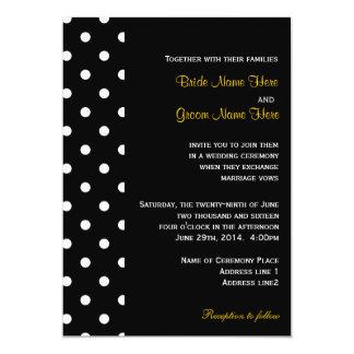 Coola chic, gifta sig för polka dots för klassiker 12,7 x 17,8 cm inbjudningskort