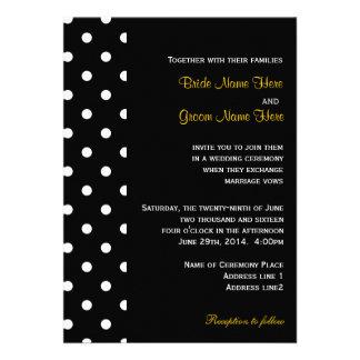 Coola chic gifta sig för polka dots för klassiker personliga tillkännagivande