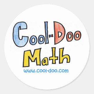 Coola-DooMath Runt Klistermärke