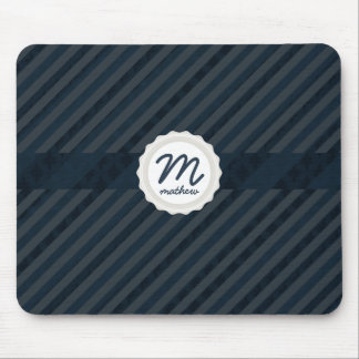 Coola & flott personligMonogram - mörk - blått Mus Matta
