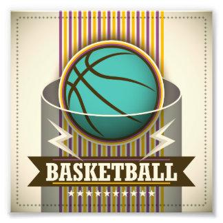 Coola för basketsportbollspel fototryck