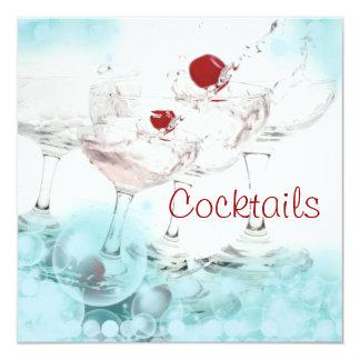 Coola för elegant för party för coctailpubpub fyrkantigt 13,3 cm inbjudningskort