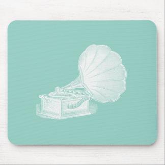 Coola för grammofon för vit för grönt för musmattor