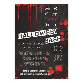 Coola Halloween för svart tavla för blodSplatter 12,7 X 17,8 Cm Inbjudningskort