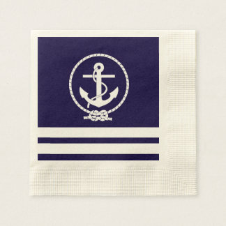 Coola och stilfullt nautiskt tema papper servetter